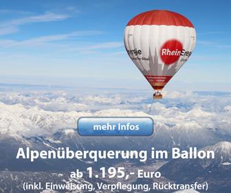 Alpenüberquerung im Heißluftballon
