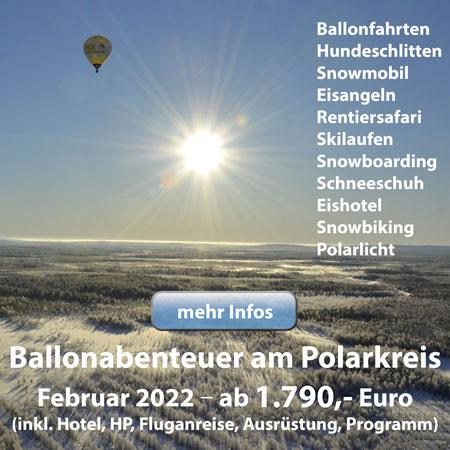Ballonabenteuer am Polarkreis