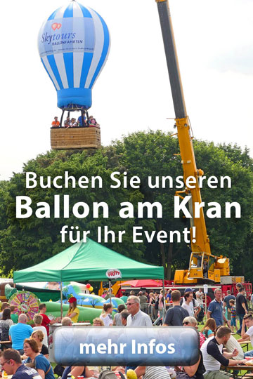 Ballon am Kran