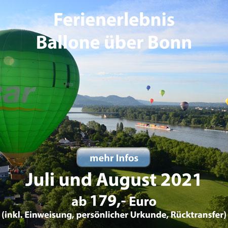 Ferienerlebnis Ballone über Bonn