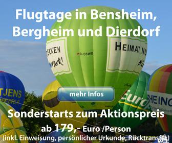 Flugtage 2018 in Bensheim, Bergheim und Dierdorf
