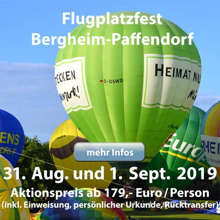 Ballonfahrten am Flugtag in Bergheim