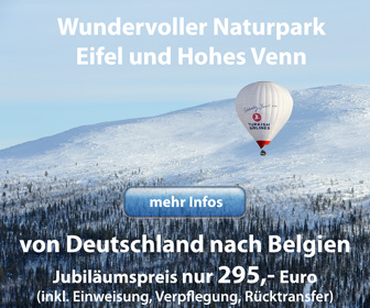Ballonfahrt im Naturpark Eifel / Hohes Venn