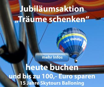 Jubiläum 15 Jahre Skytours Ballooning