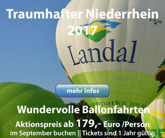 Ballonfahrten am Niederrhein zum Aktionspreis